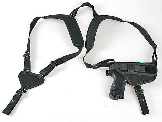 Combined form-fitted textile holster - big