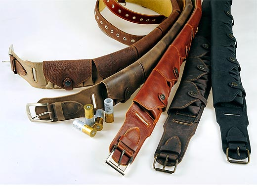 Leather cartridge-belt - with covers