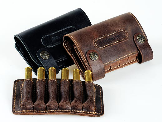 Leather cartridge-box for carbine cartridges