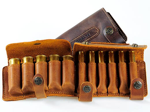 Leather cartridge-box for hunting and carbine cartridges